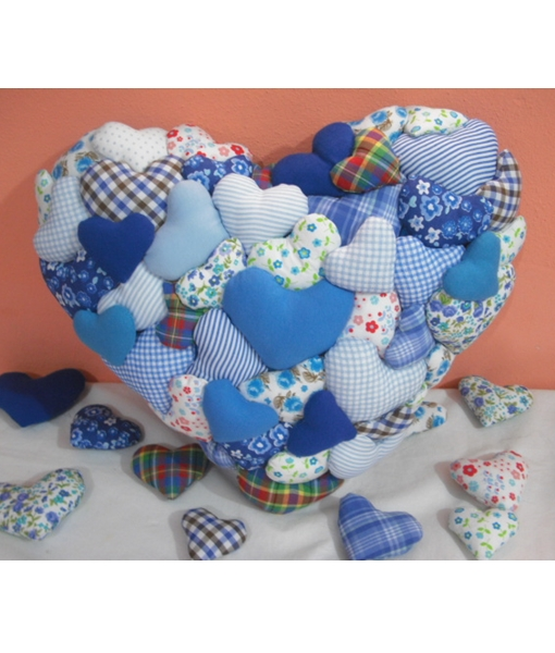 Almofada Coração In Love azul