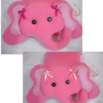 Elefante pink laços