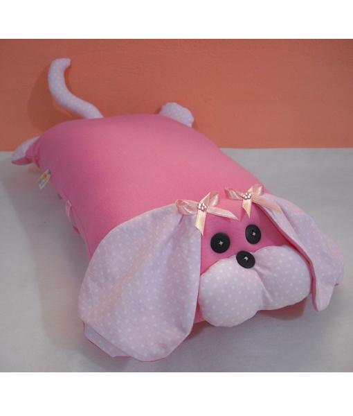 Travesseiro Cachorro pink poá