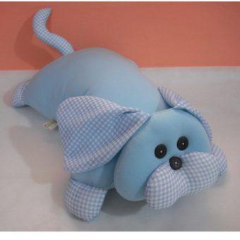 Travesseiro Cachorro xadrez Azul p