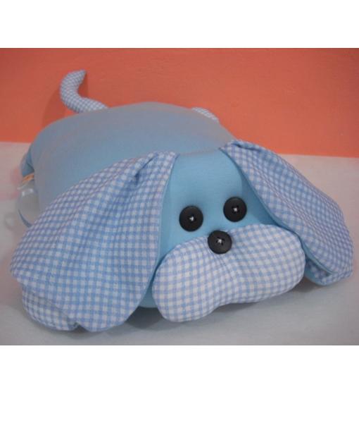 Travesseiro Cachorro xadrez Azul