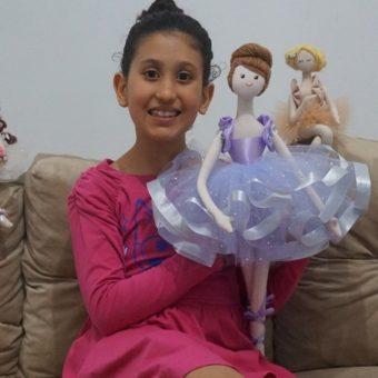 Boneca Bailarina Janine mor