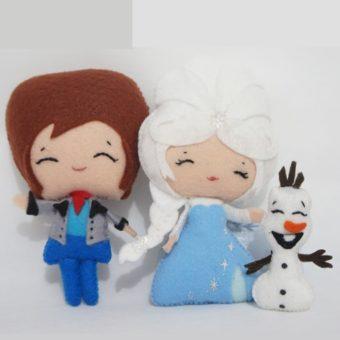 Elsa frozen feltro