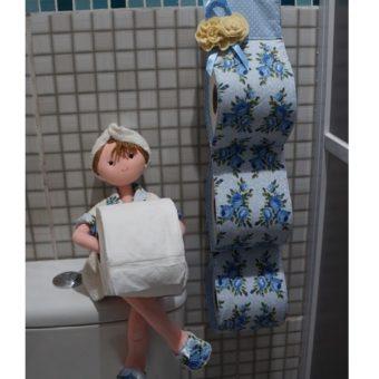 Porta papel higienico boneca Irene creme