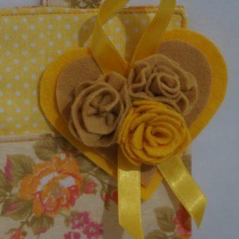Porta papel higienico trio amarelo