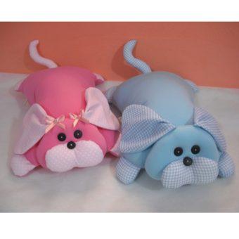 Travesseiro Cachorro pink poá s