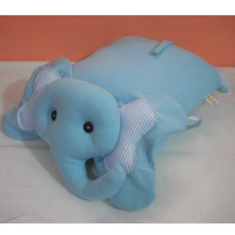Elefante azul listras