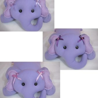 Elefante lilás laços