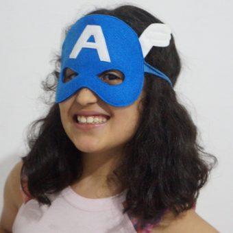 Mascara Capitão América Ela