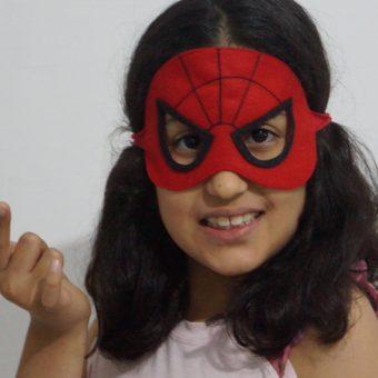 Mascara Homem Aranha ela