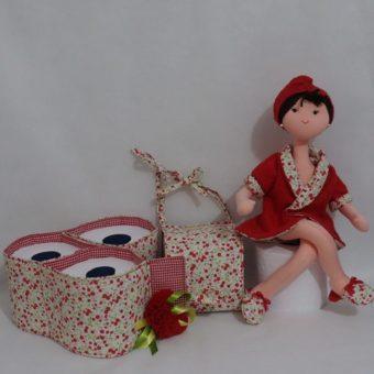 Porta papel higienico boneca vermelhaa
