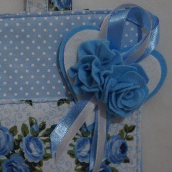 Porta papel higienico trio azul d
