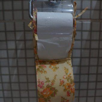 Porta papel higienico unico amarelo